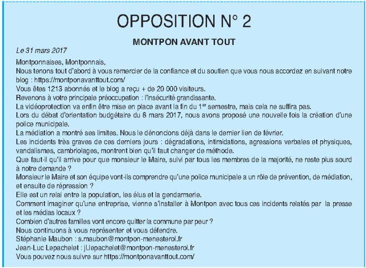opposition montpon avant tout lien juillet 2017