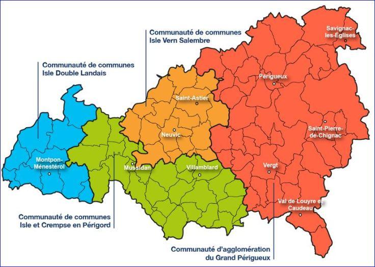 carte du pays de l'isle