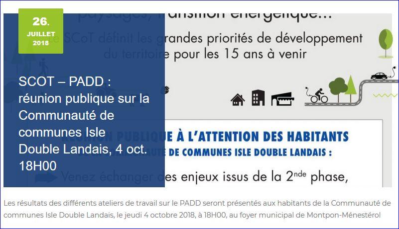Pas De Public A La Reunion Publique De Presentation De La Phase Padd
