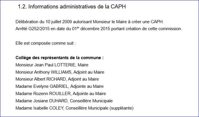 élus représentants la commune