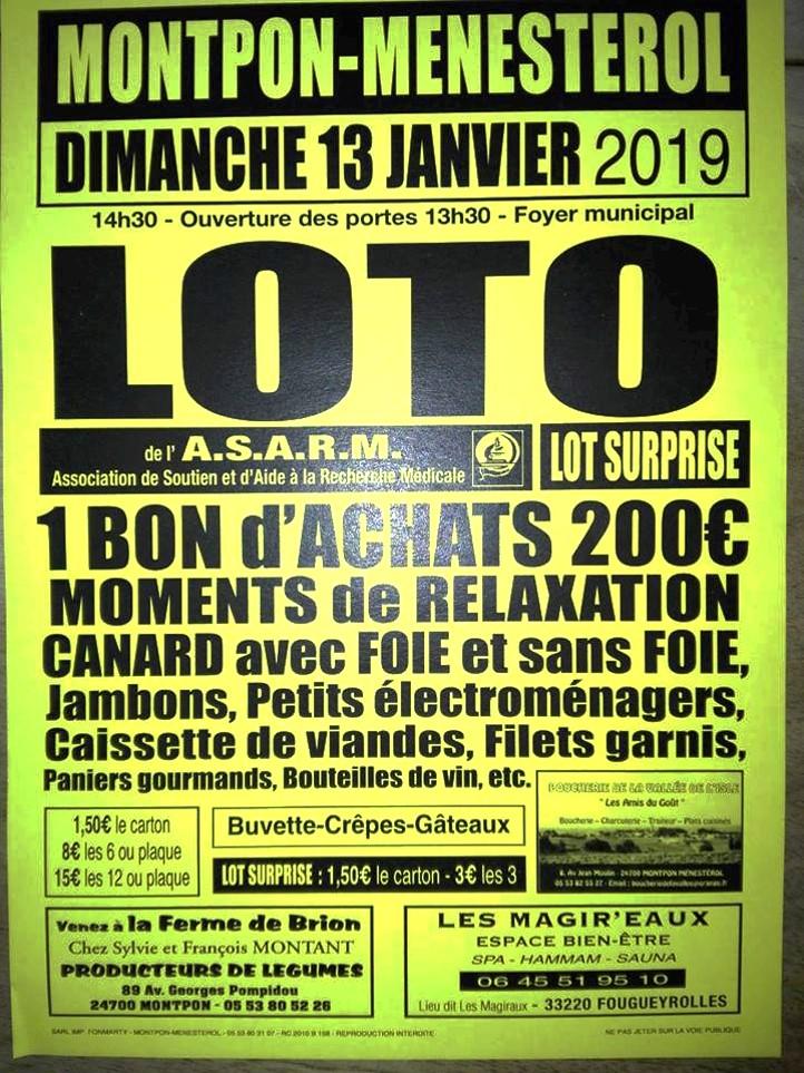 affiche loto 13 janvier