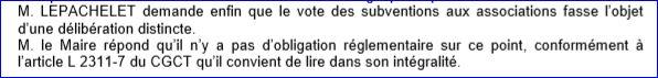 vote subventions